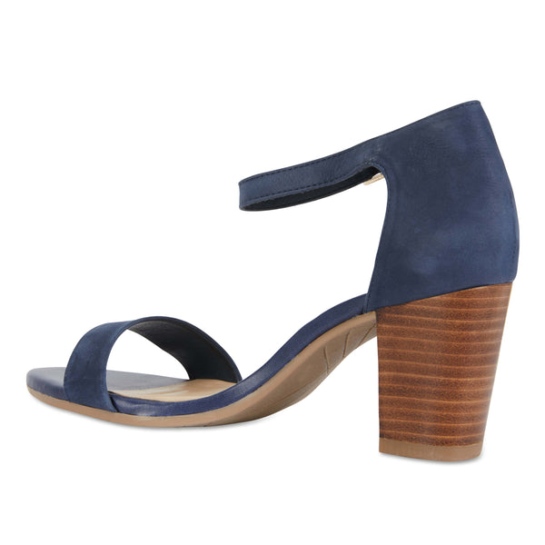Beyond Heel in Navy Suede