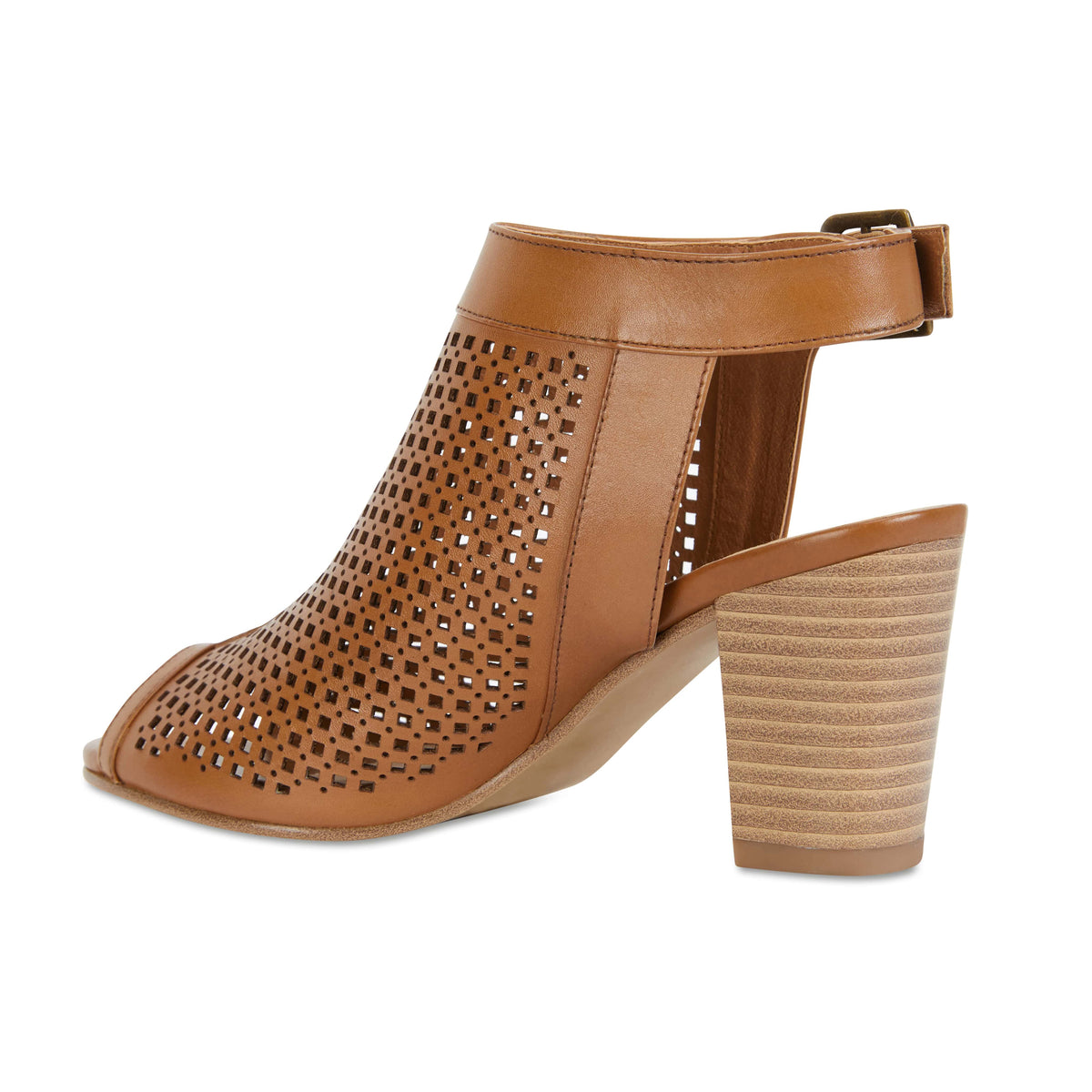 Billie Heel in Tan Leather