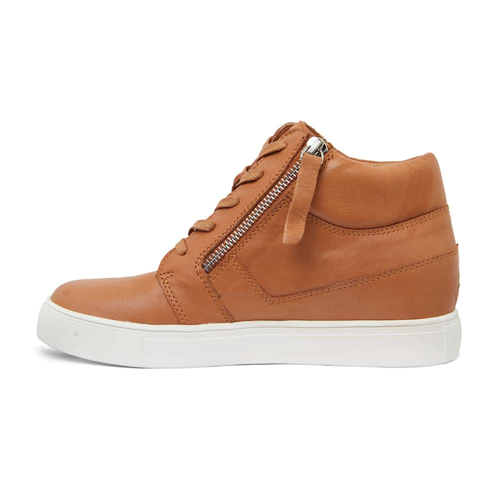 Bingo Sneaker in Tan Leather