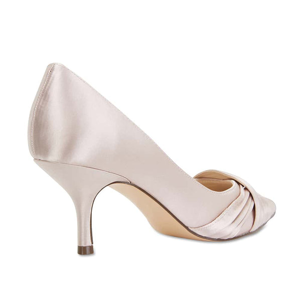 Blakely Heel in Taupe Satin