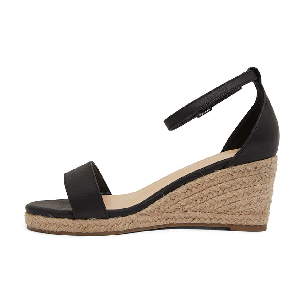 Bloom Espadrille in Black Fabric