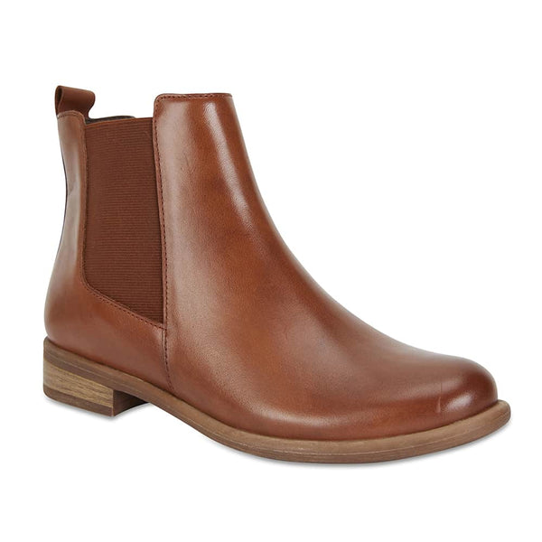 Bogart Boot in Mid Brown Leather