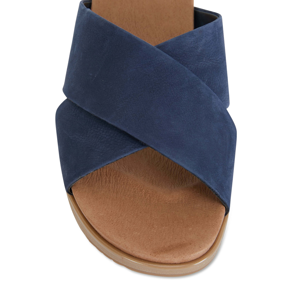 Bold Slide in Navy Leather