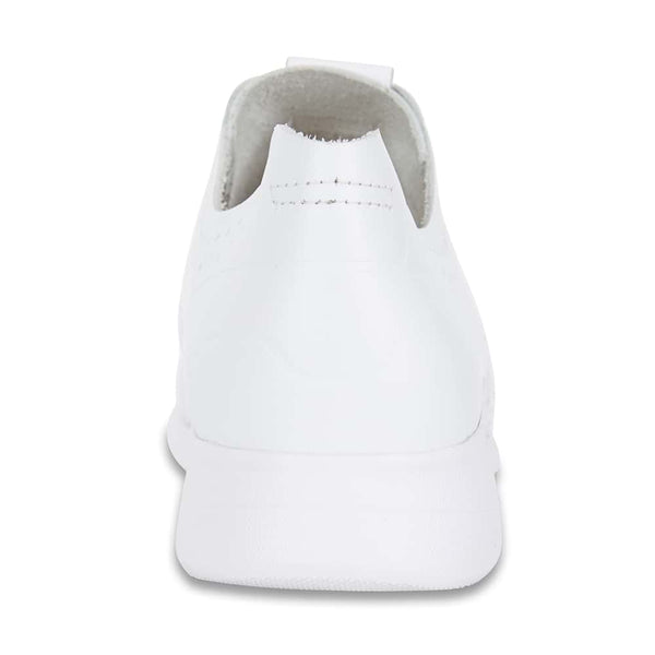 Bolt Sneaker in White Leather