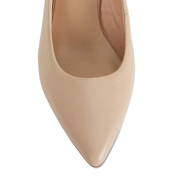 Bonnie Heel in Nude Leather