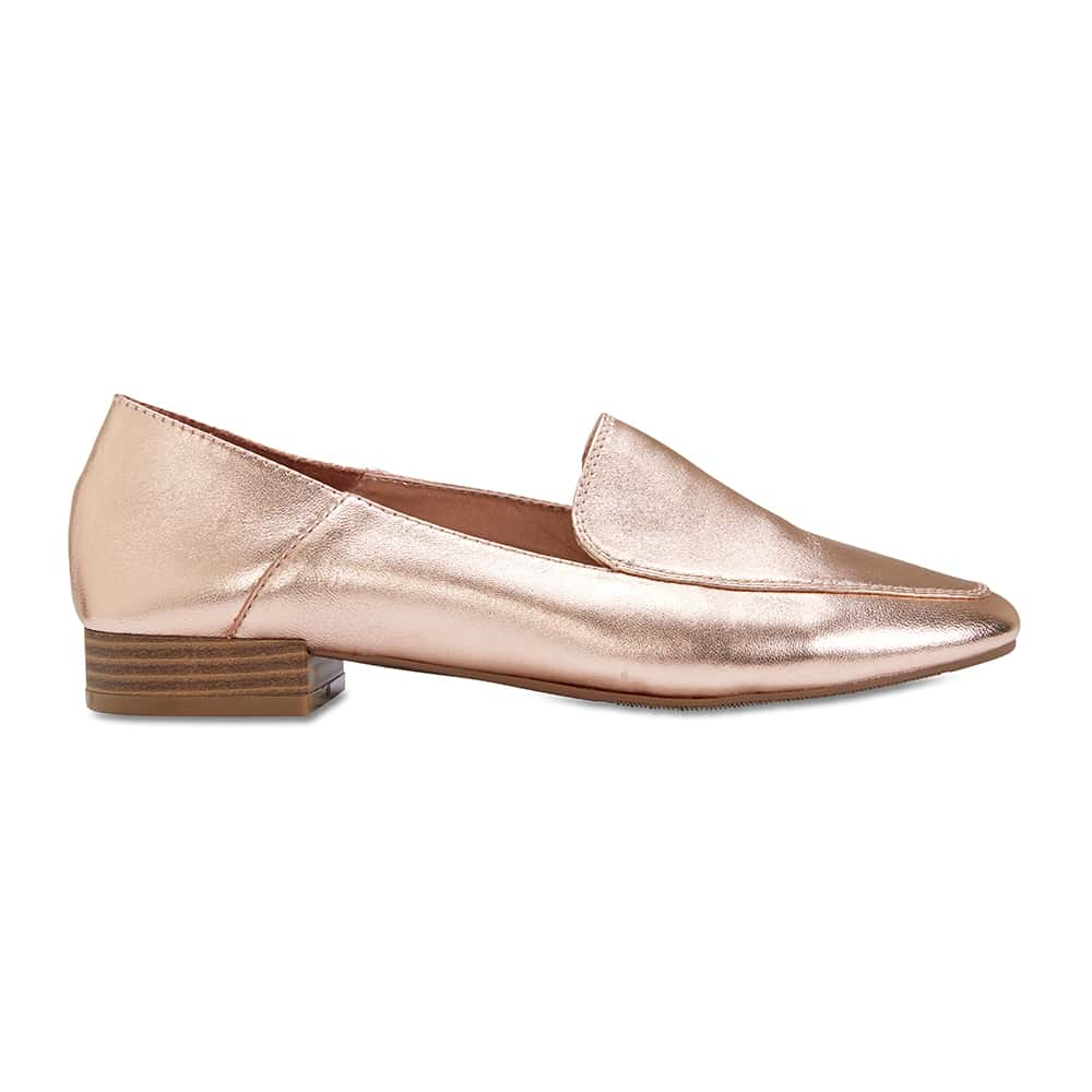 Braxton Loafer in Rose Gold Leather