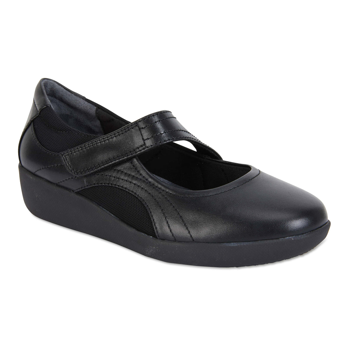 Bronwyn Loafer in Black Leather