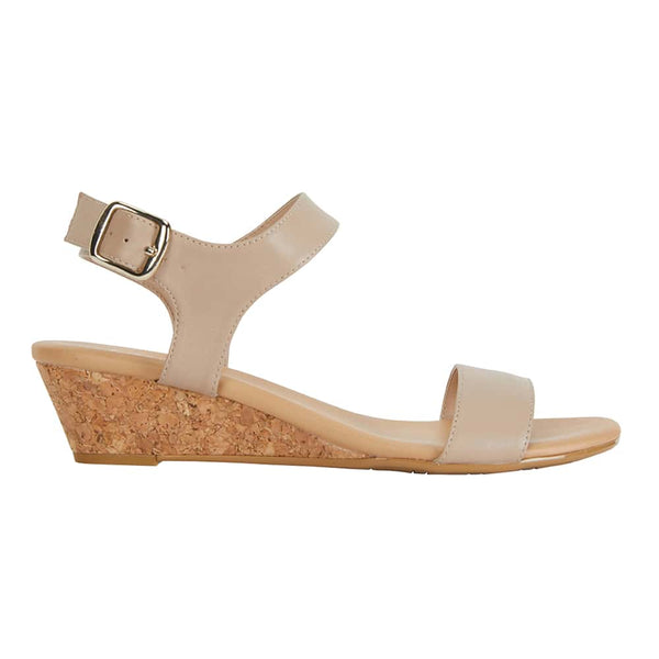 Cable Heel in Nude Leather