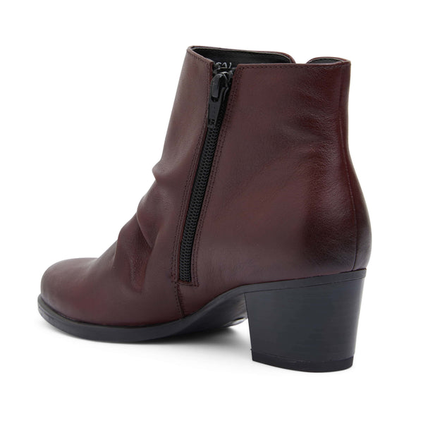 Cagney Boot in Burgundy Leather