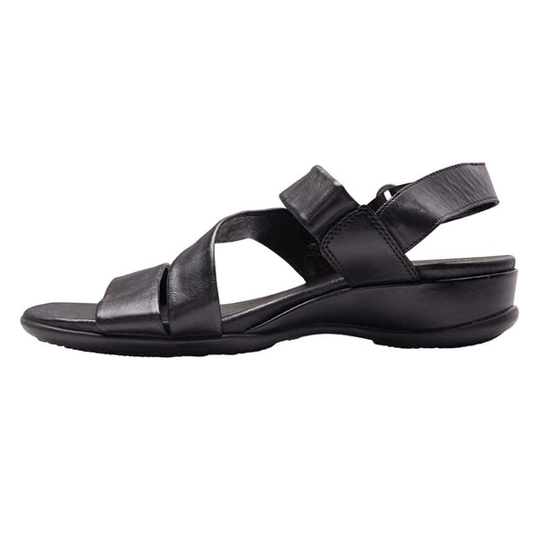 Caine Sandal in Black Leather