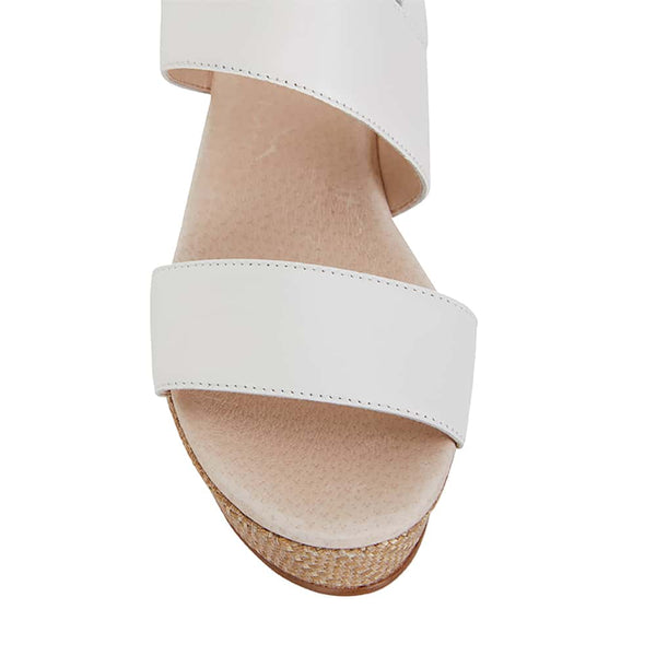 Caitlin Heel in White Leather