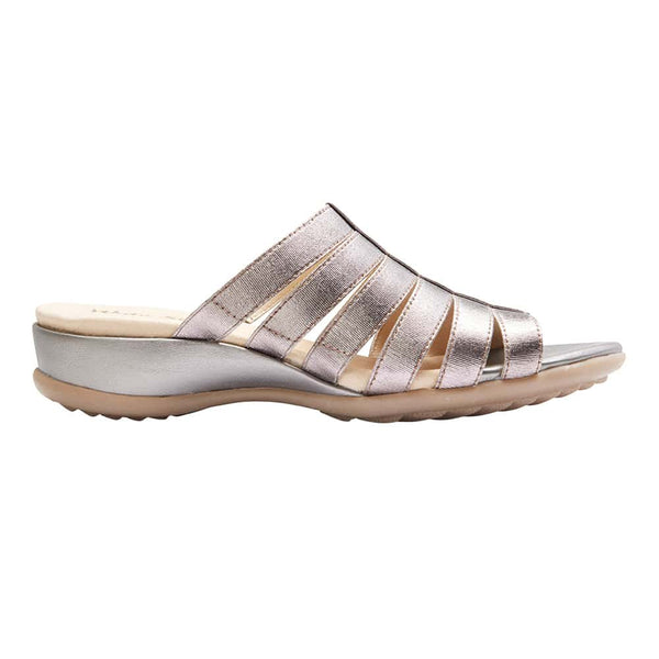 Canal Sandal in Pewter Leather