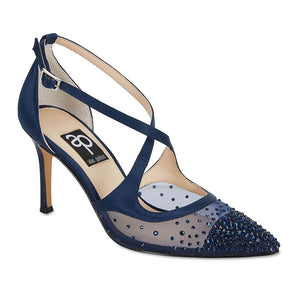 Candid Heel in Navy Satin