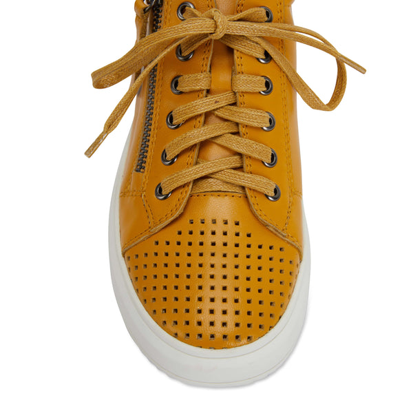 Carson Sneaker in Mustard Leather