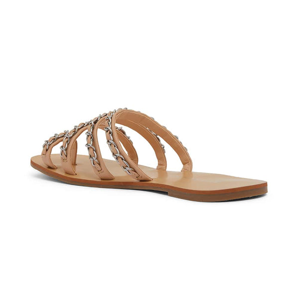 Catalina Slide in Nude Fabric