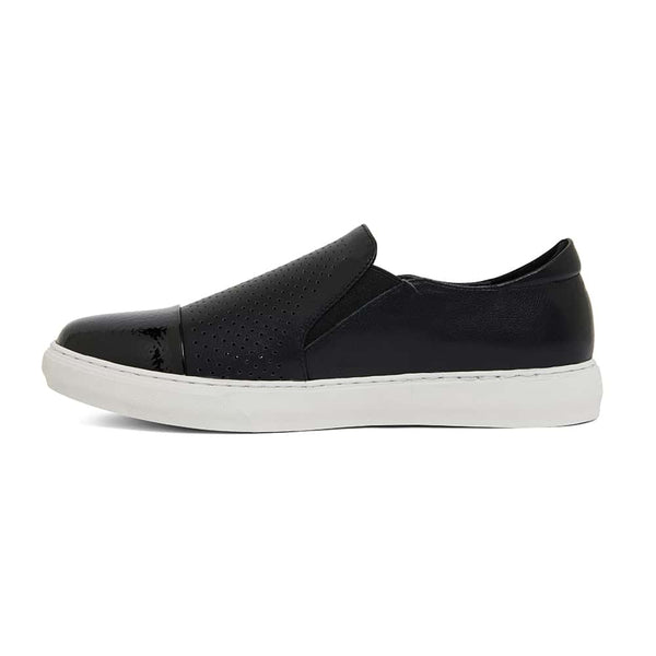 Celina Sneaker in Black Leather