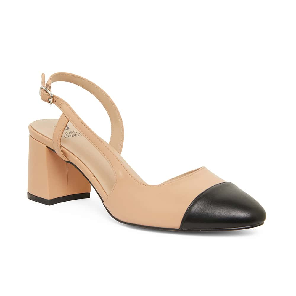 Chapter Heel in Black And Camel Leather
