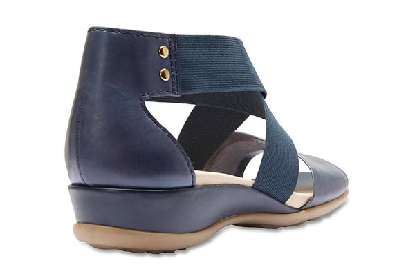Charity Sandal in Navy Leather
