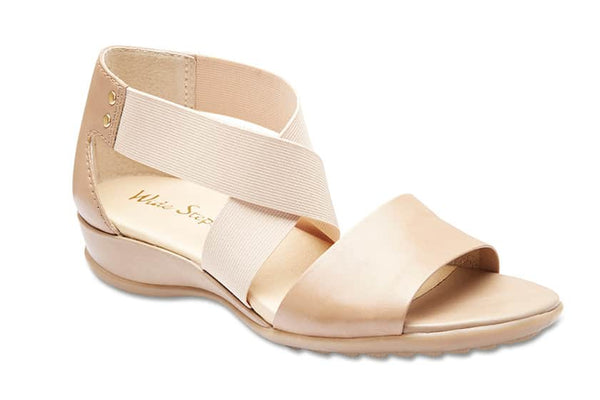 Charity Sandal in Neutral Leather