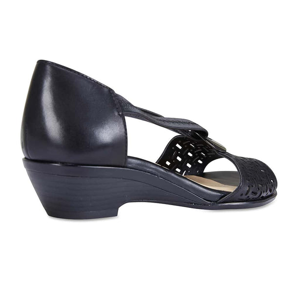Chime Sandal in Black Leather