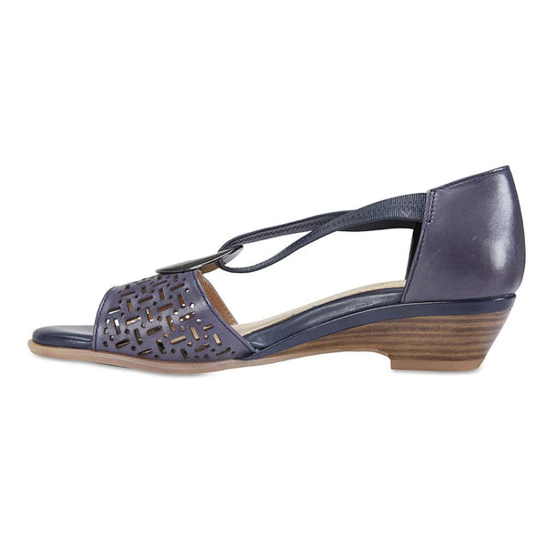 Chime Sandal in Navy Leather