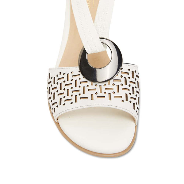 Chime Sandal in White Leather