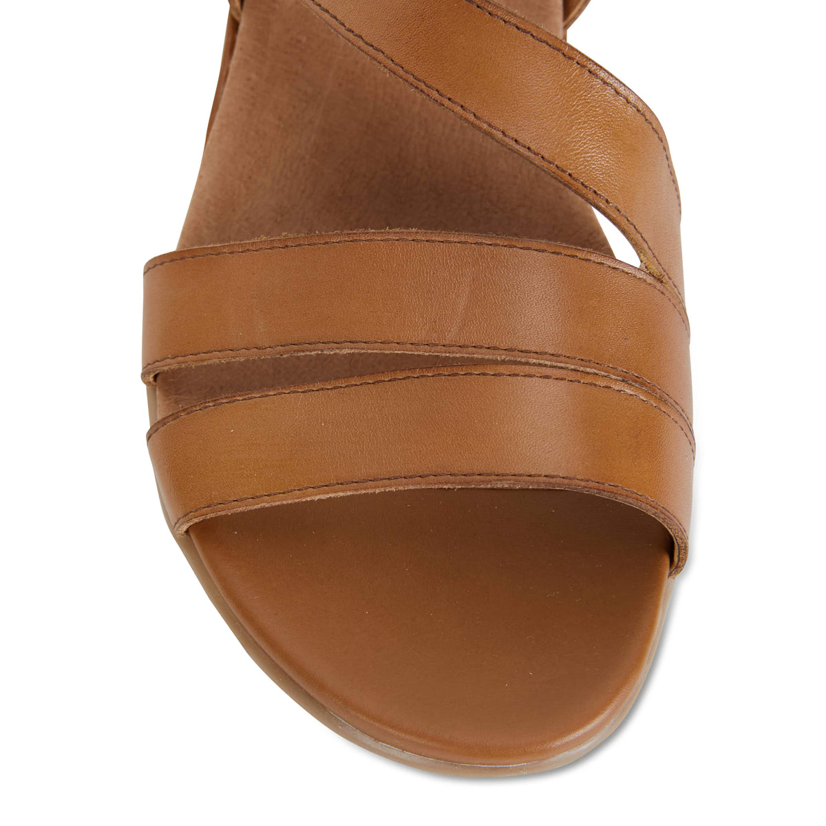 Cisco Sandal in Cognac Leather