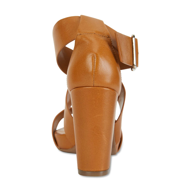 Congo Heel in Cognac Leather