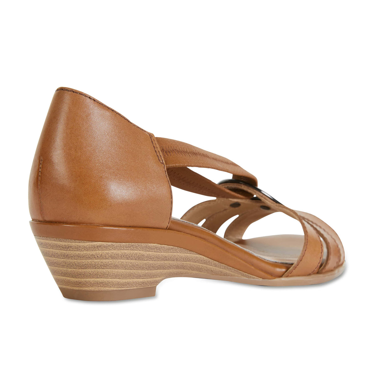 Corina Sandal in Cognac Leather