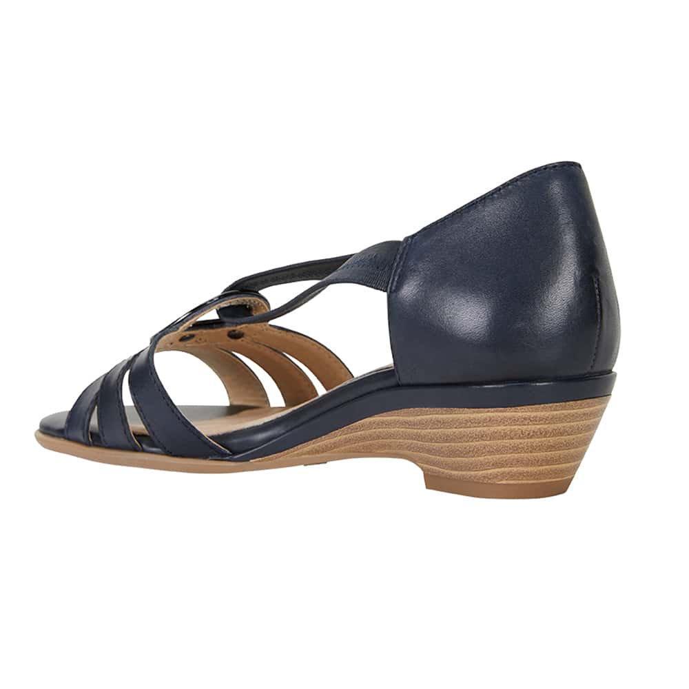 Corina Sandal in Navy Leather