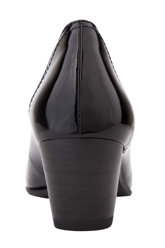 Cyrus Heel in Black Patent
