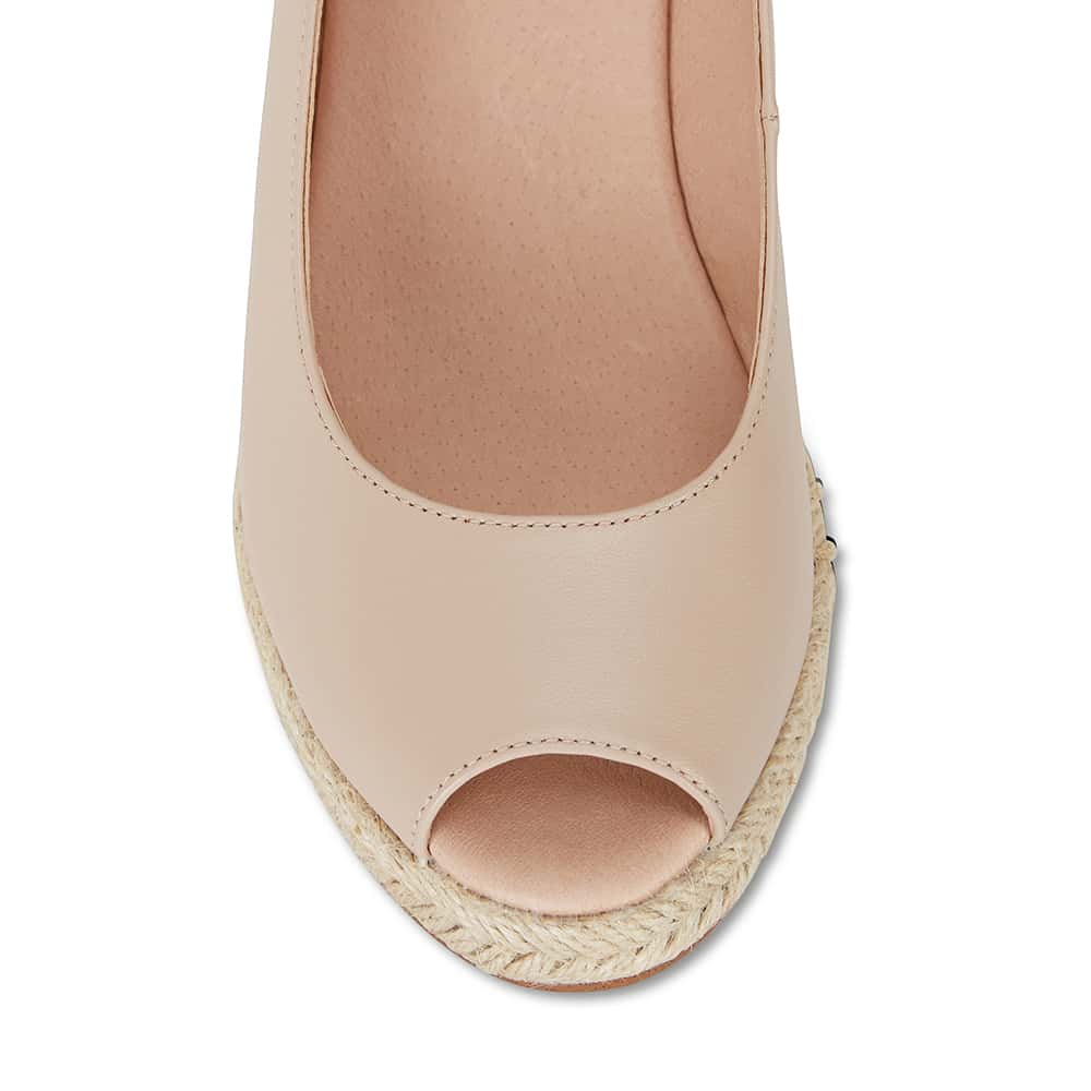 Dakota Espadrille in Blush Leather
