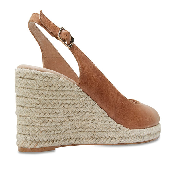 Dakota Espadrille in Cognac Leather