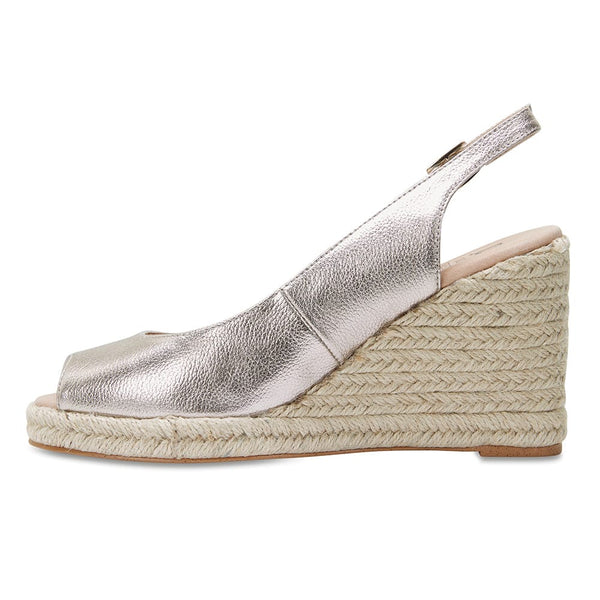 Dakota Espadrille in Soft Gold Leather