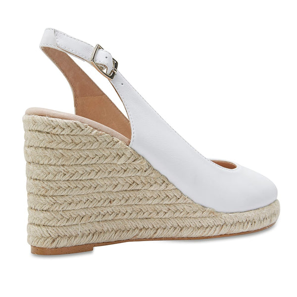 Dakota Espadrille in White Leather