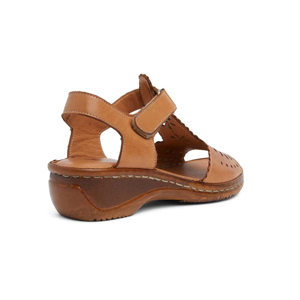 Dario Heel in Tan Leather
