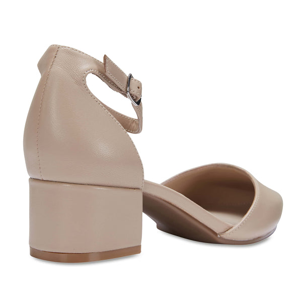 Dash Heel in Nude Leather