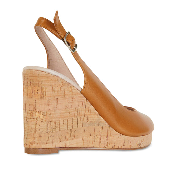 Davina Heel in Light Tan Leather