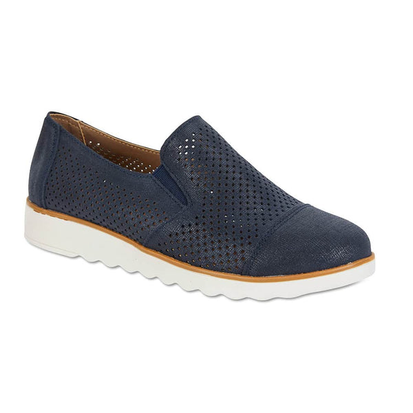 Davis Sneaker in Navy Leather