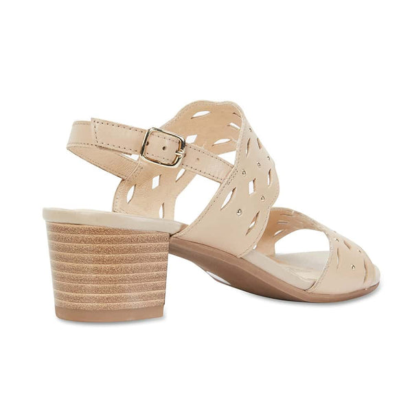 Debut Heel in Neutral Leather