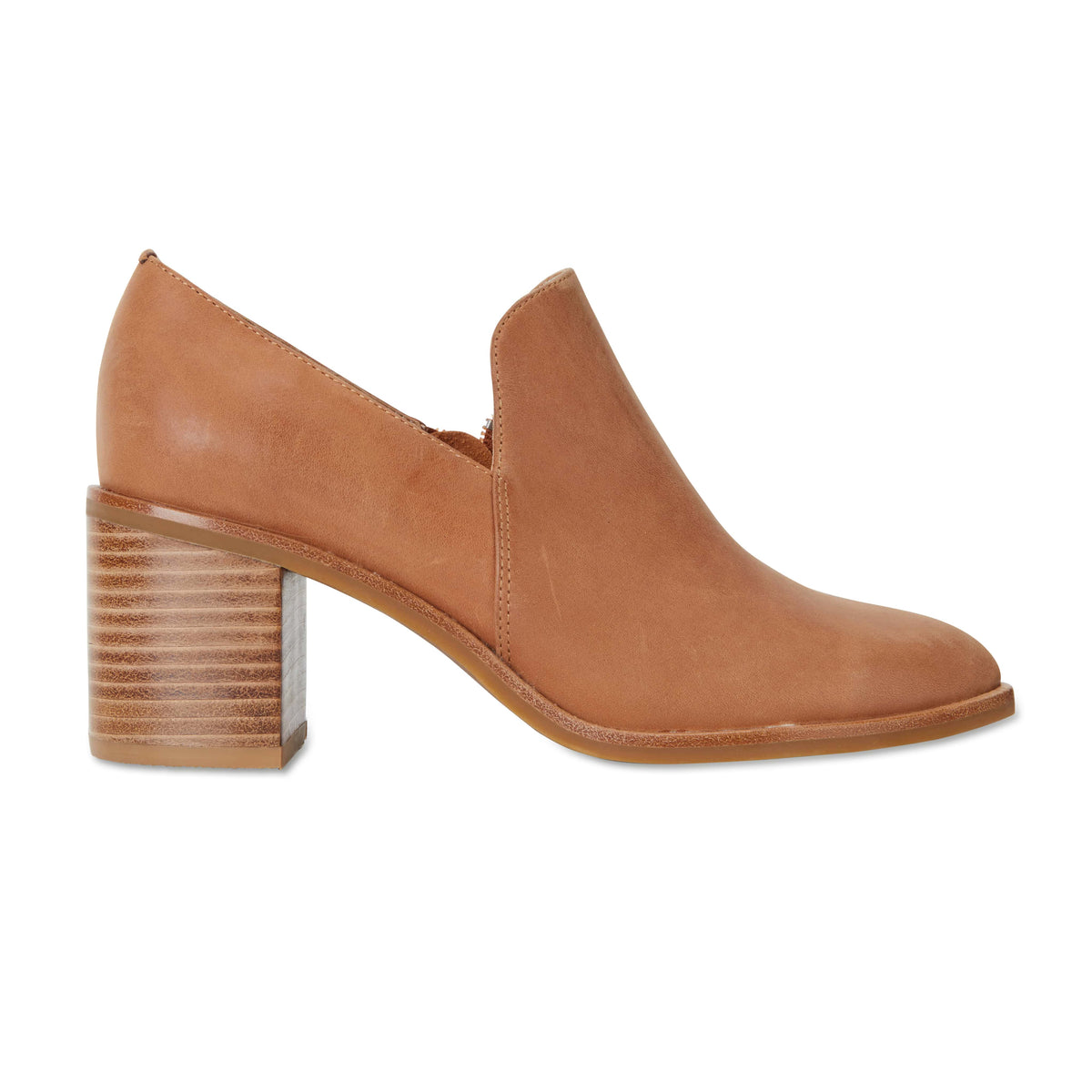 Decade Heel in Tan Leather