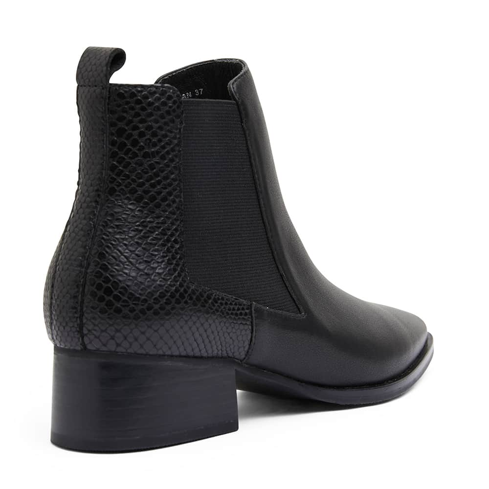 Decan Boot in Black Leather