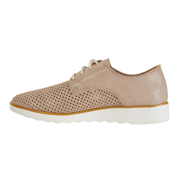Deed Brogue in Nude Leather