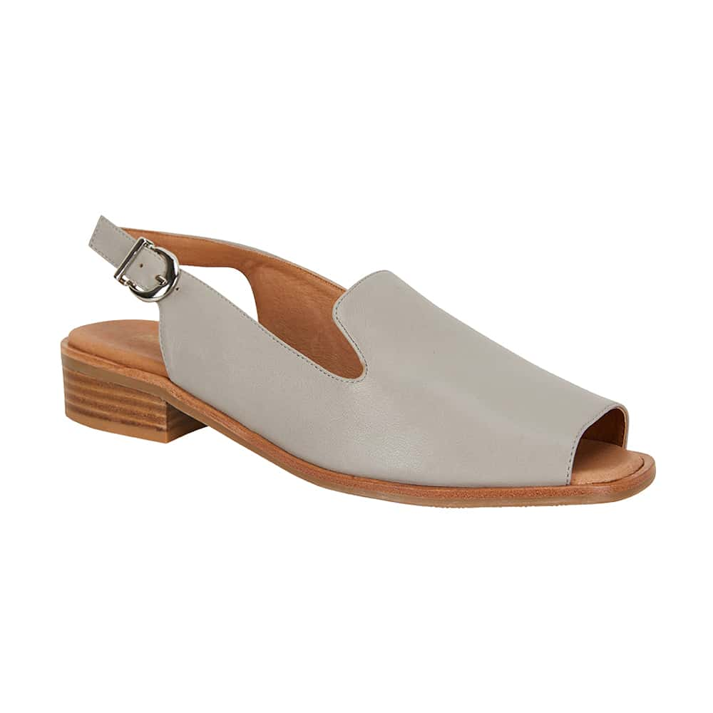 Delaney Sandal in Grey Leather