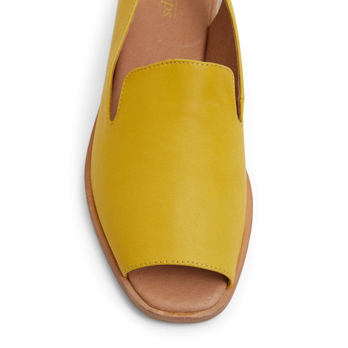 Delaney Sandal in Mustard Leather