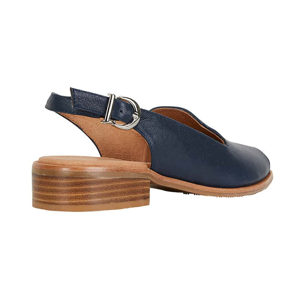 Delaney Sandal in Navy Leather