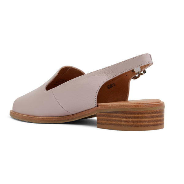 Delaney Sandal in Nude Leather
