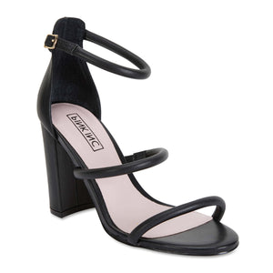 Demand Heel in Black Leather