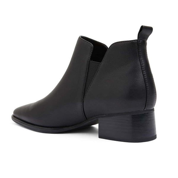 Demi Boot in Black Leather