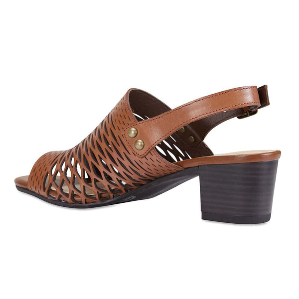 Denise Heel in Cognac Leather
